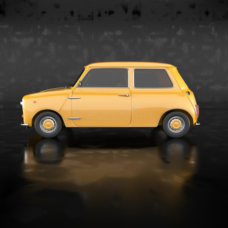 Żółty samochód ilustracji