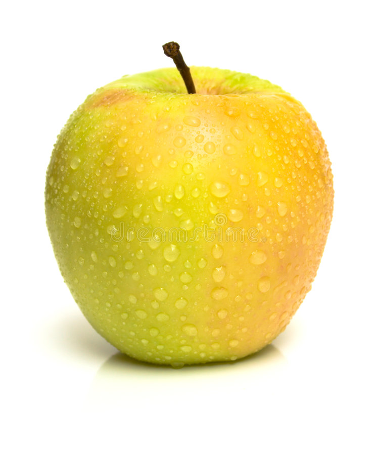 Żółty soczysty jabłko obrazy royalty free