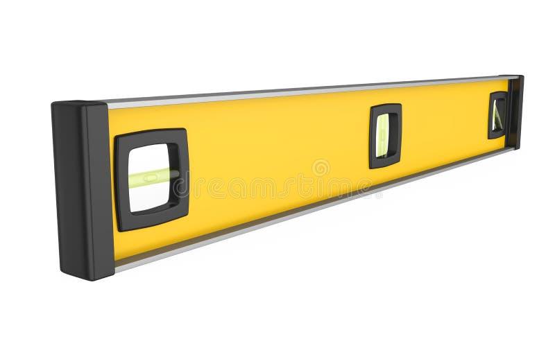 Żółty Spirytusowy poziom Odizolowywający ilustracja wektor