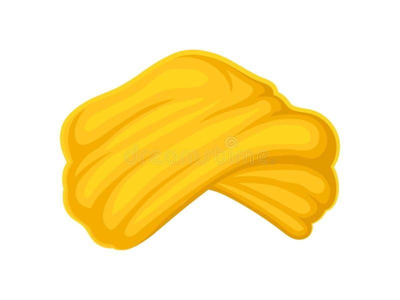 Żółty turban t?a ilustracyjny rekinu wektoru biel ilustracja wektor