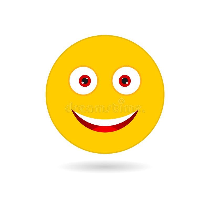 Żółty uśmiech ilustracji