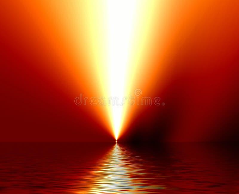 Żółty wody światła ilustracji