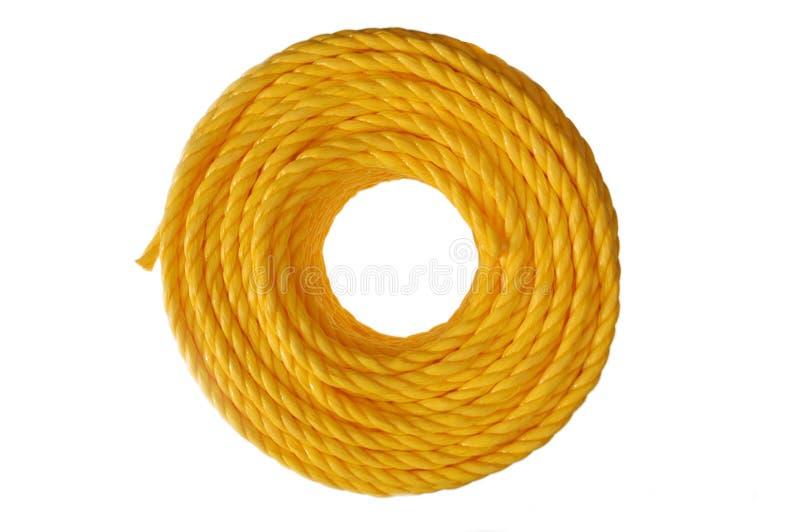 Żółty zwinięta liny fotografia stock