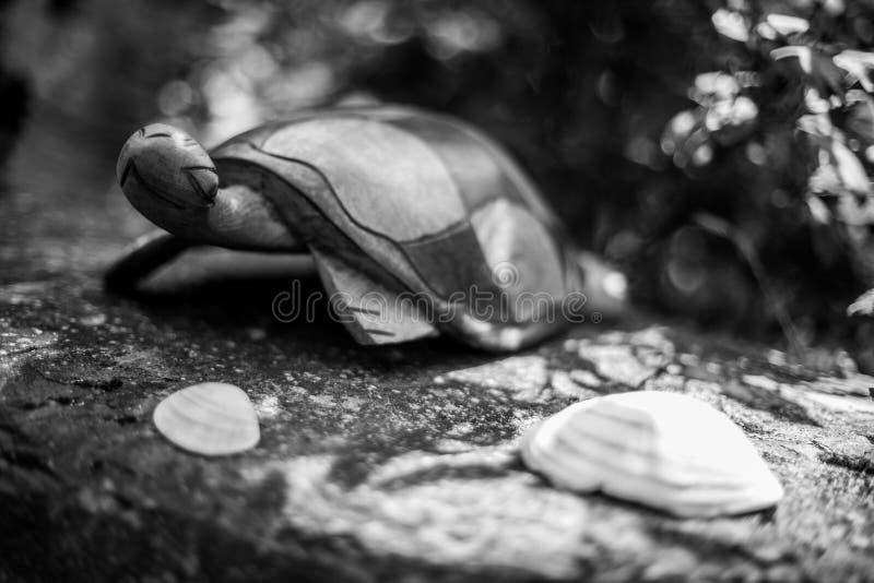 Żółw rzeźba w parku zdjęcia stock