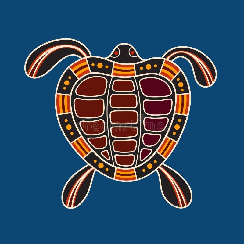 Żółw Tubylczy sztuka styl ilustracja wektor