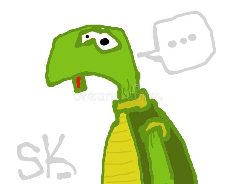 Żółwia remisu ilustracyjny doodle zdjęcia stock