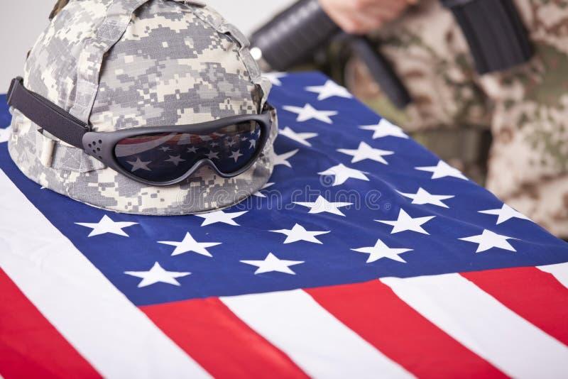 żałobny wojskowy fotografia royalty free
