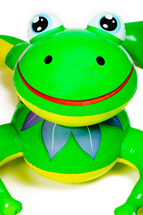 żaba basen nadmuchiwana zabawka zdjęcia royalty free