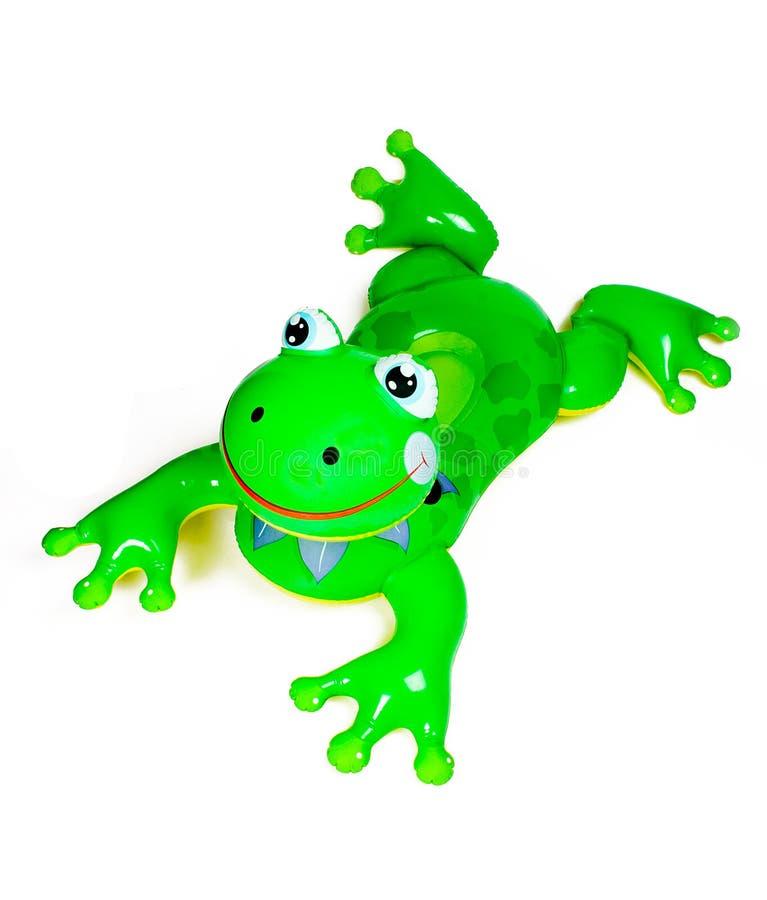 żaba basen nadmuchiwana zabawka obraz stock