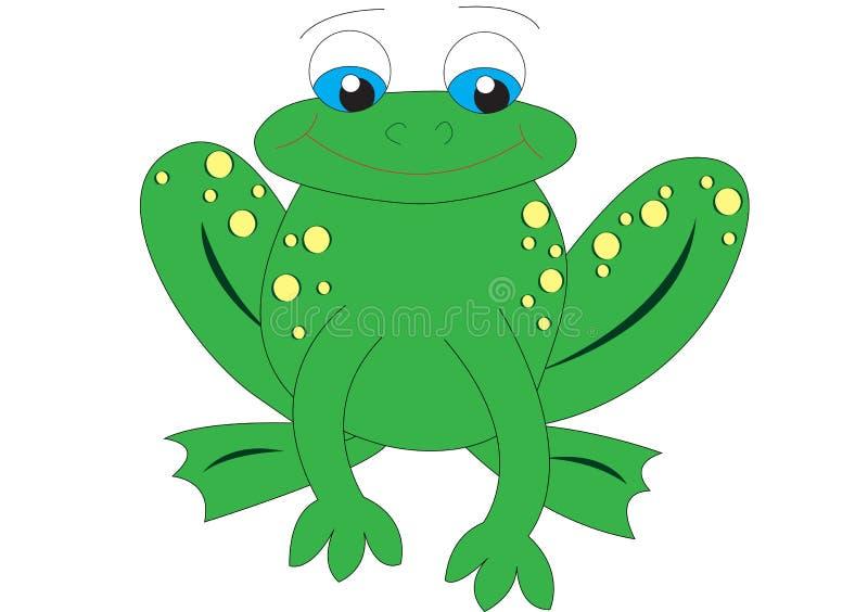żaba odizolowywająca ilustracji