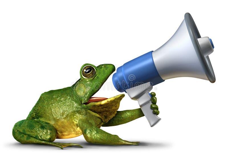 Żaba spiker royalty ilustracja