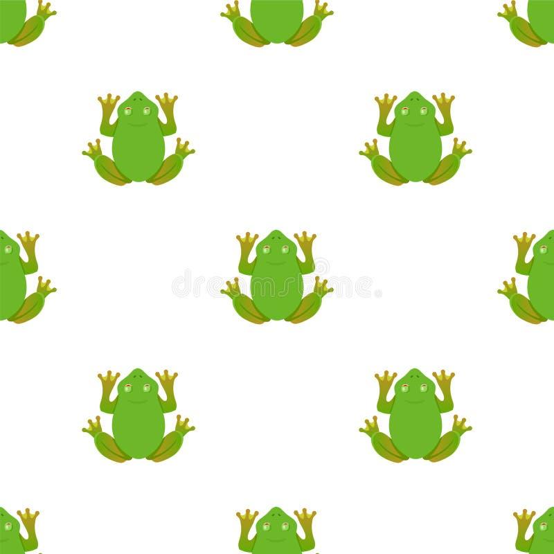 Żaba wzór na białym tle ilustracji