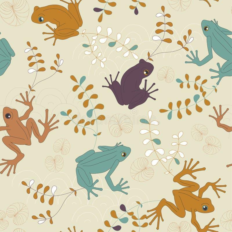 żaby deseniują bezszwowego wektor ilustracja wektor