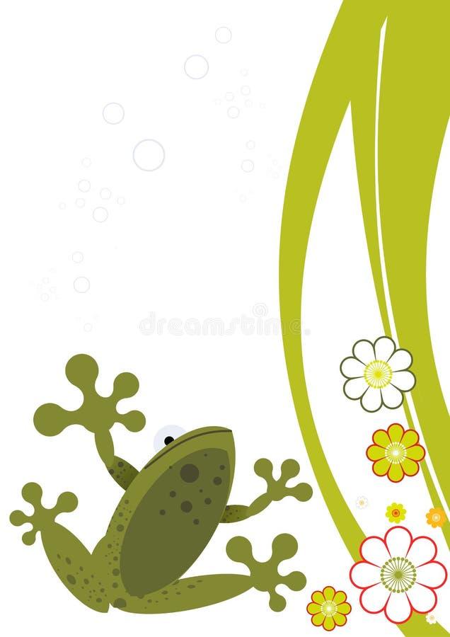żaby ilustrującej kwiaty royalty ilustracja