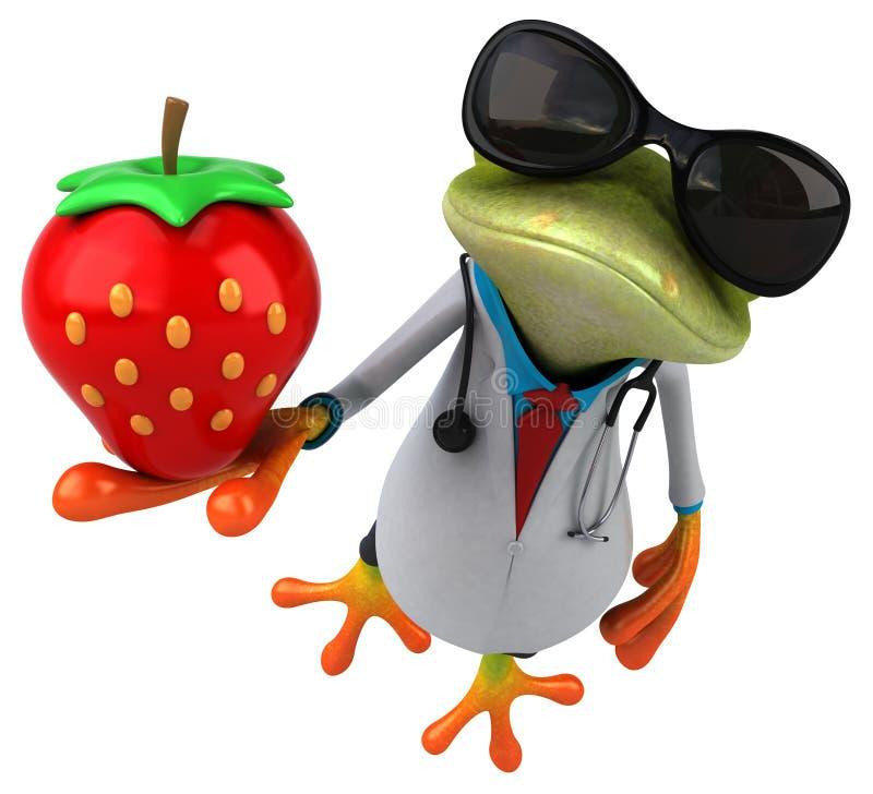 Żaby lekarka - 3D ilustracja ilustracja wektor