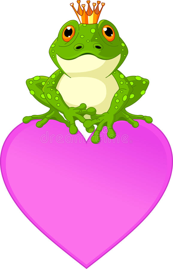 żaby serce royalty ilustracja