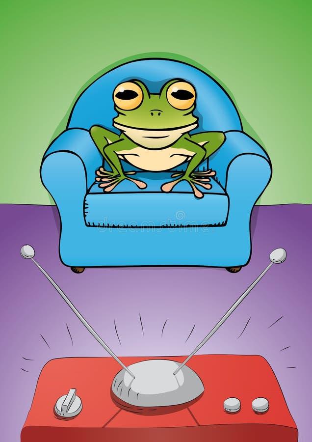 żaby tv zegarek ilustracja wektor