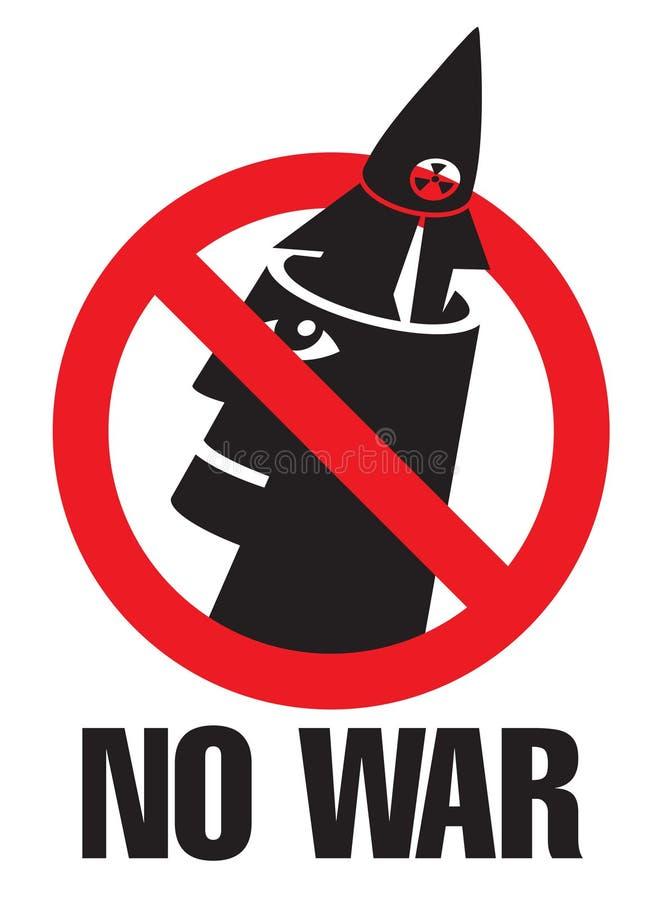 żadnej wojny ilustracja wektor