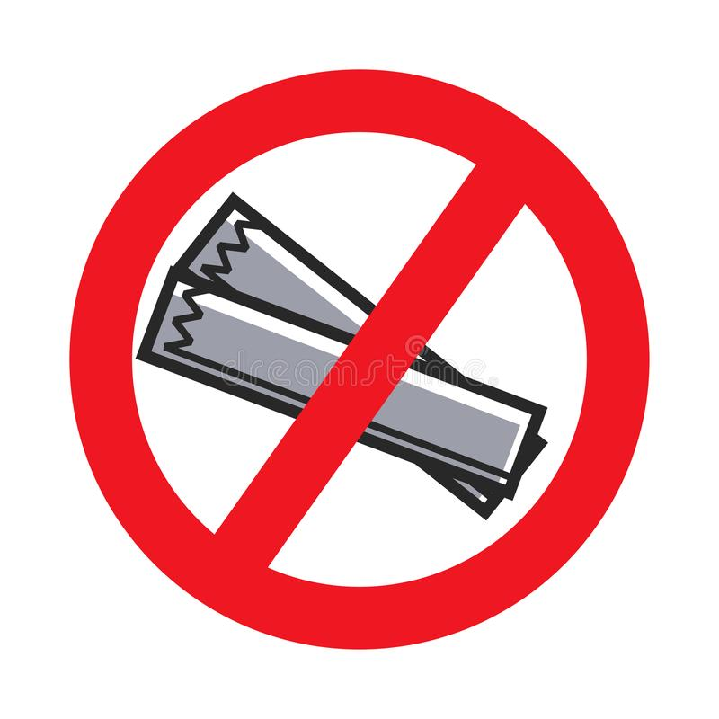 Żadny ściółka zakazujący wektoru znak lub gazeta ilustracja wektor