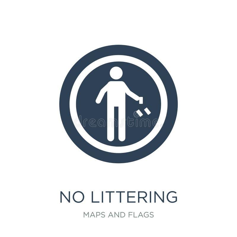 żadny śmiecić ikona w modnym projekta stylu żadny śmiecić ikona odizolowywająca na białym tle żadny śmiecić wektorowa ikona prost royalty ilustracja