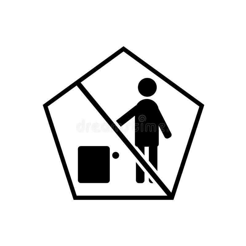 Żadny śmiecić ikony Szyldowy wektor odizolowywający na białym tle, Żadny l ilustracji