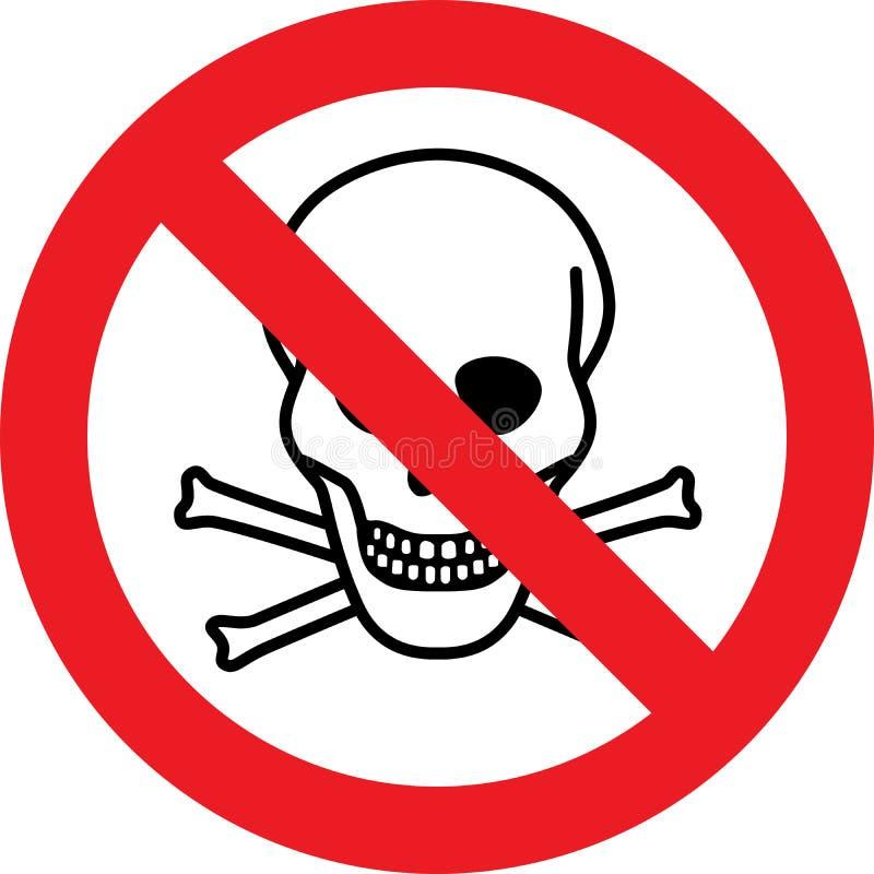 Żadny śmiertelny niebezpieczeństwo substancj chemicznych znak ilustracja wektor