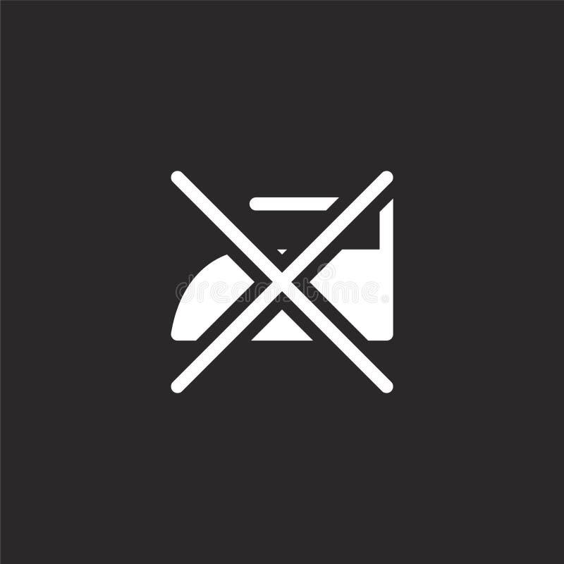 żadny żelazna ikona Wypełniał żadny żelazną ikonę dla strona internetowa projekta i wiszącej ozdoby, app rozwój żadny żelazna iko royalty ilustracja