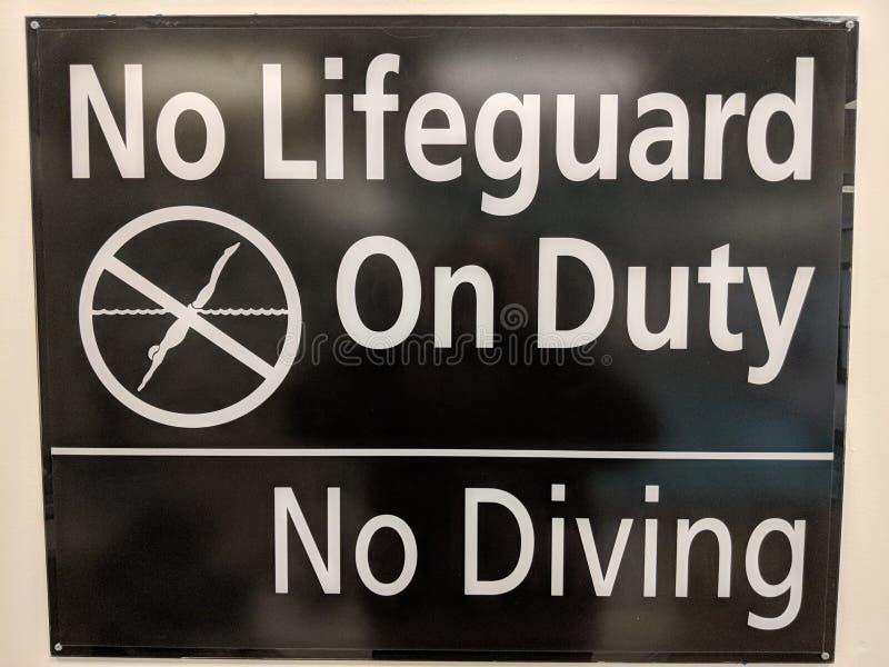 Żadny życie strażnika znak zdjęcia stock
