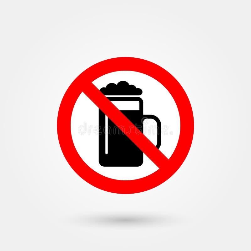 Żadny alkoholu znak 1 royalty ilustracja