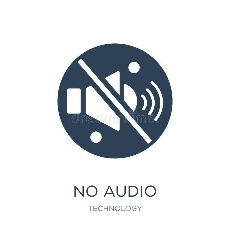 żadny audio ikona w modnym projekta stylu żadny audio ikona odizolowywająca na białym tle żadny audio wektorowej ikony prosty i n royalty ilustracja