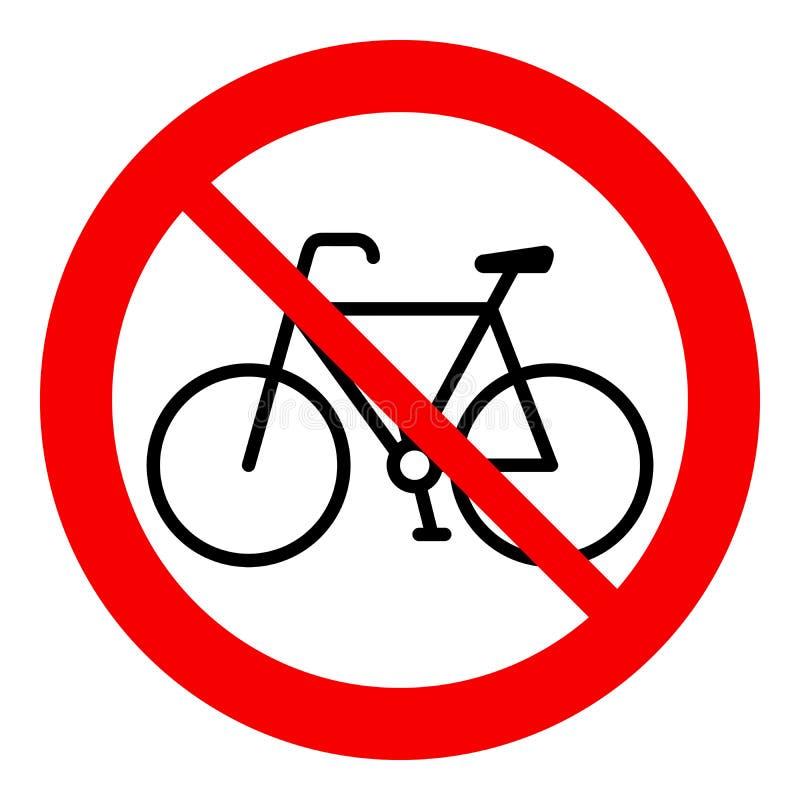 Żadny bicykl, rowerowy prohibicja znak, wektorowa ilustracja ilustracja wektor