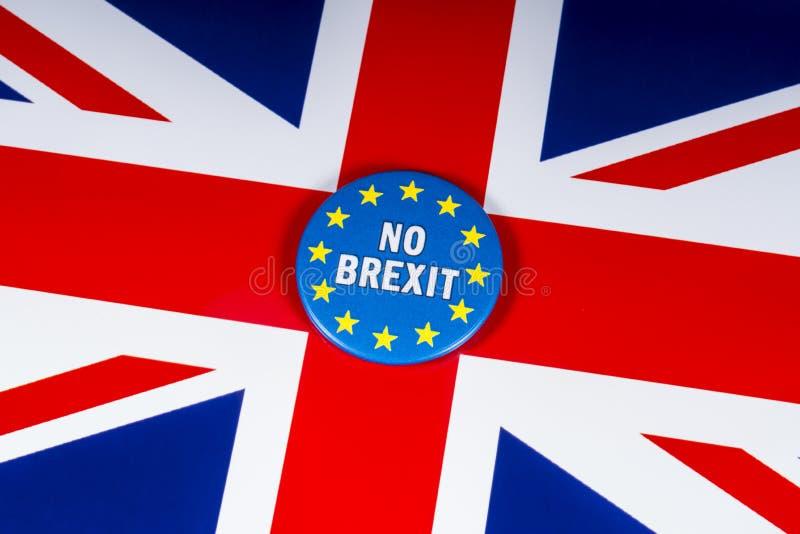 Żadny Brexit Zlany królestwo zdjęcie stock