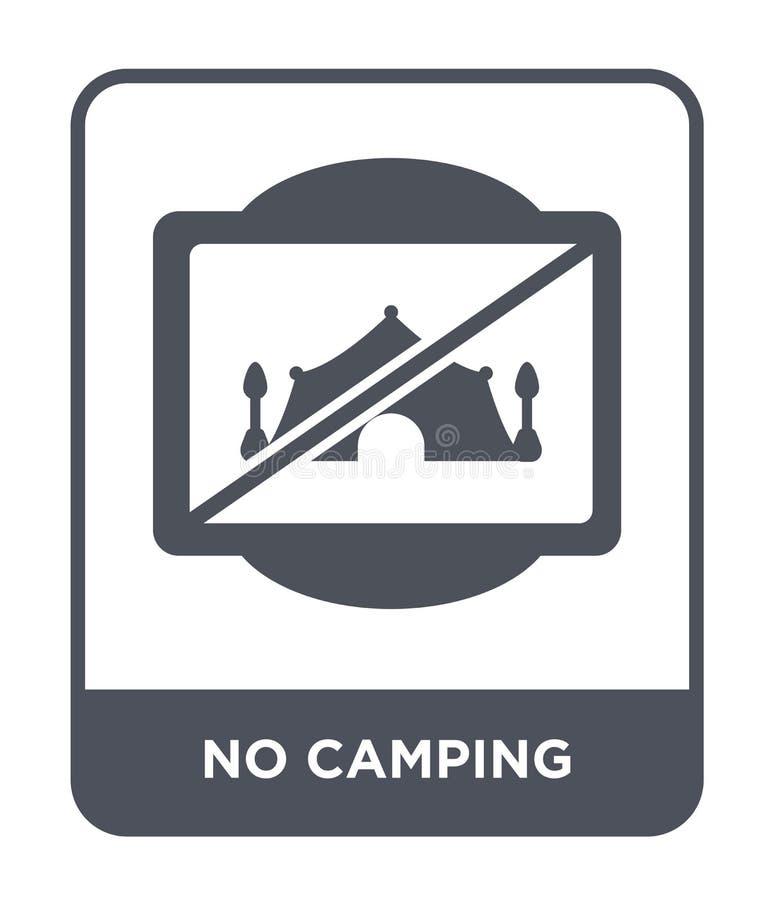 żadny campingowa ikona w modnym projekta stylu żadny campingowa ikona odizolowywająca na białym tle żadny campingowa wektorowa ik ilustracja wektor