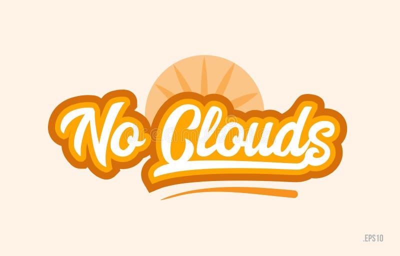 żadny chmura koloru słowa teksta loga pomarańczowa ikona ilustracja wektor
