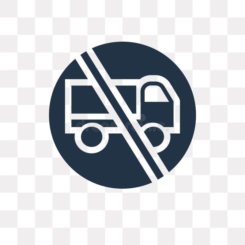 Żadny ciężarówki wektorowa ikona odizolowywająca na przejrzystym tle, Żadny tru ilustracja wektor
