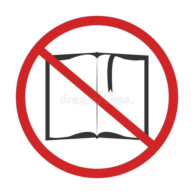 Żadny czytający książkę royalty ilustracja
