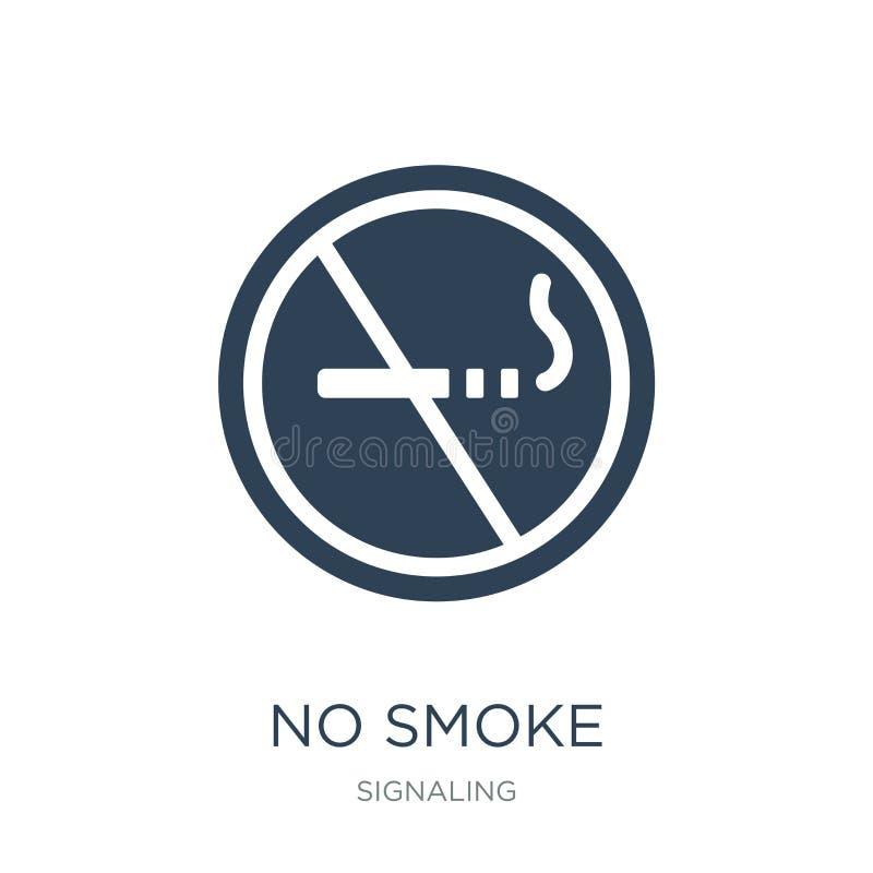 żadny dymna ikona w modnym projekta stylu żadny dymna ikona odizolowywająca na białym tle żadny dymnej wektorowej ikony prosty i  royalty ilustracja