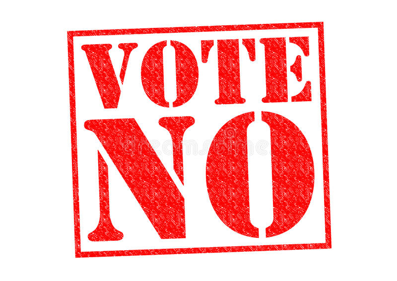 żadny głosowanie ilustracja wektor