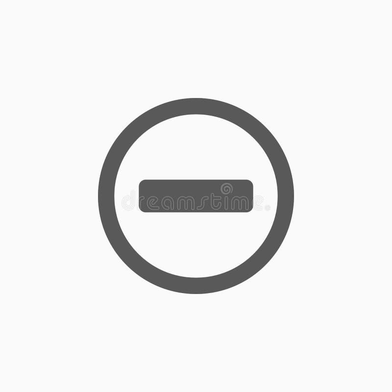 Żadny hasłowa ikona, zakazująca, zabrania ilustracji