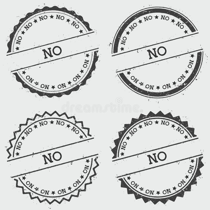 Żadny insygnia znaczek odizolowywający na białym tle ilustracja wektor