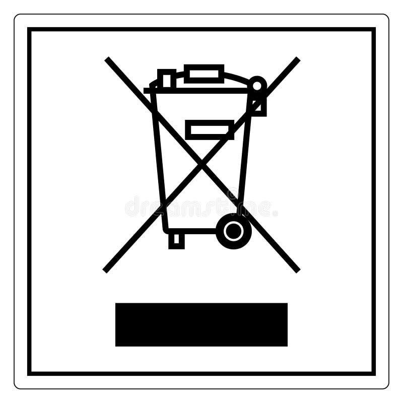 Żadny Jałowy symbolu znak Odizolowywa Na Białym tle, Wektorowa ilustracja EPS 10 ilustracja wektor