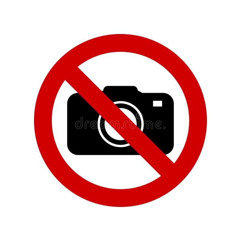 Żadny kamera żadny fotografia znak ilustracji