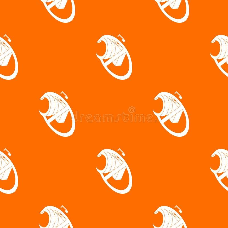 Żadny kamera wzoru wektoru pomarańcze ilustracja wektor