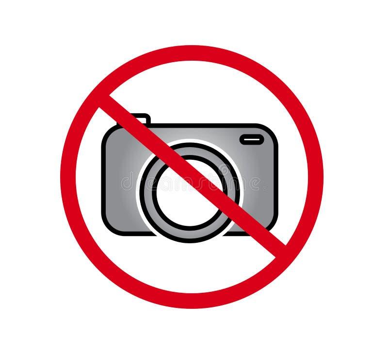 Żadny kamery pozwolić znak Czerwona prohibicja żadny kamera znak Żadny bierze obrazki, żadny fotografia znak  ilustracji