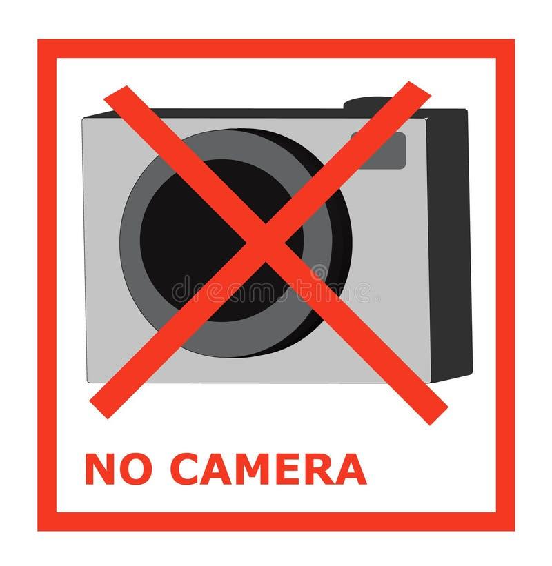 Żadny kamery takeing fotografii no pozwolą zakazu obrazka kamery cro royalty ilustracja