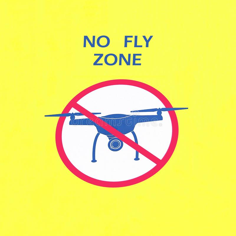 Żadny komarnicy strefa, znak, prohibicja trutnie ilustracji