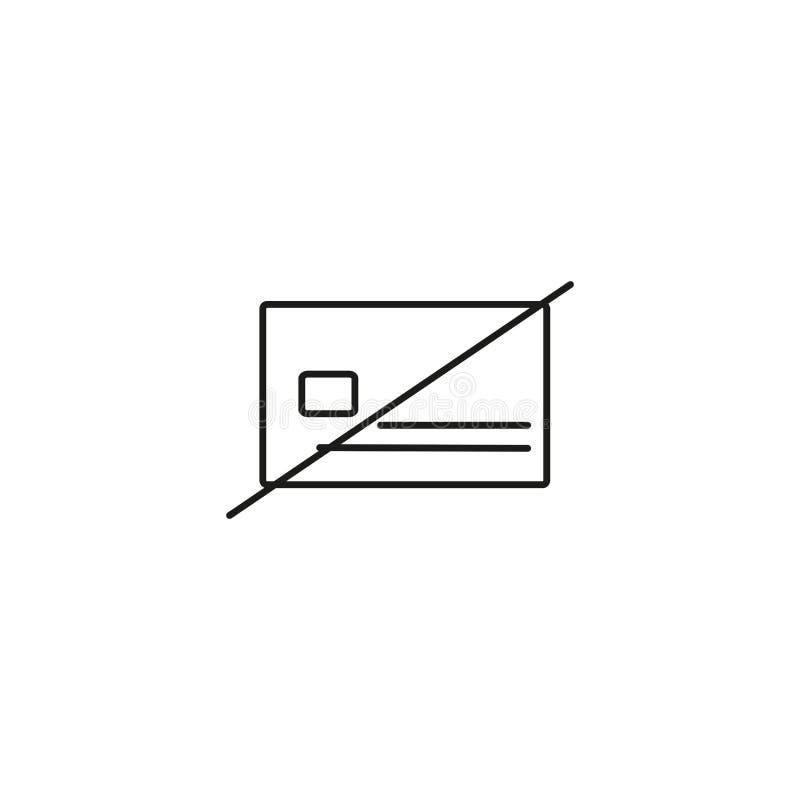 żadny kredytowej karty ikona ilustracja wektor