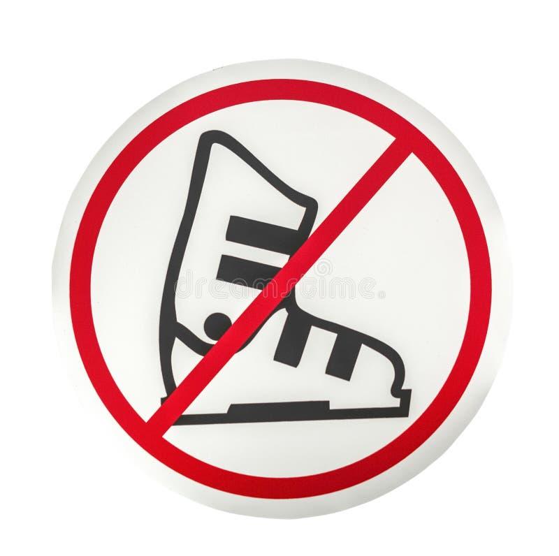 Żadny lodowych łyżew znak fotografia royalty free