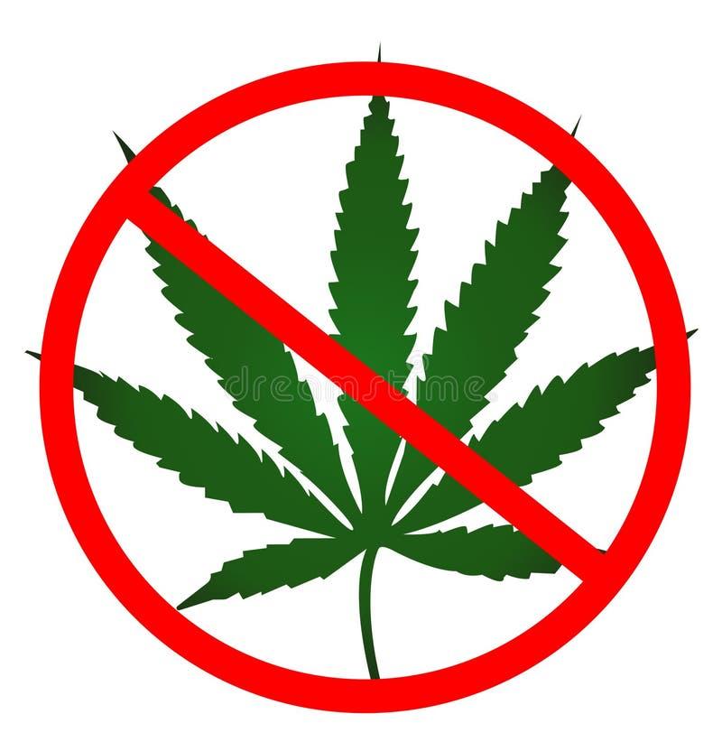 Żadny marihuana liścia zielony kolor royalty ilustracja