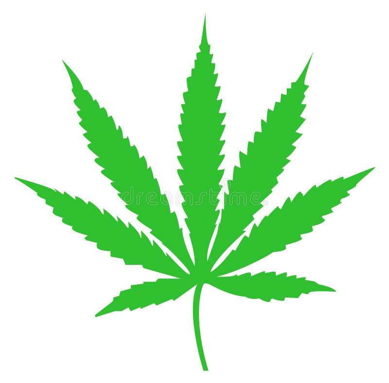 Żadny marihuana liścia zielony kolor ilustracja wektor